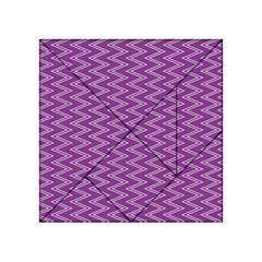 Purple Zig Zag Pattern Background Wallpaper Acrylic Tangram Puzzle (4  x 4 )