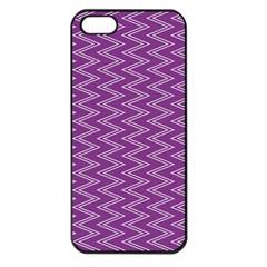 Purple Zig Zag Pattern Background Wallpaper Apple iPhone 5 Seamless Case (Black)