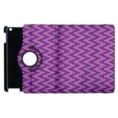 Purple Zig Zag Pattern Background Wallpaper Apple iPad 3/4 Flip 360 Case