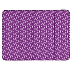 Purple Zig Zag Pattern Background Wallpaper Samsung Galaxy Tab 7  P1000 Flip Case