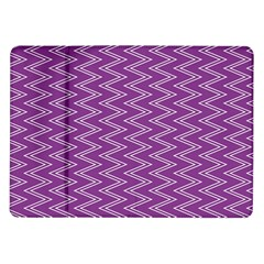 Purple Zig Zag Pattern Background Wallpaper Samsung Galaxy Tab 10.1  P7500 Flip Case