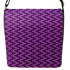 Purple Zig Zag Pattern Background Wallpaper Flap Messenger Bag (s)