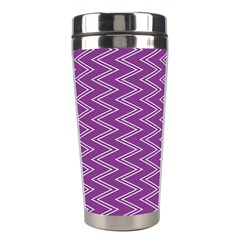 Purple Zig Zag Pattern Background Wallpaper Stainless Steel Travel Tumblers