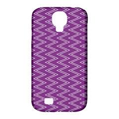 Purple Zig Zag Pattern Background Wallpaper Samsung Galaxy S4 Classic Hardshell Case (pc+silicone)
