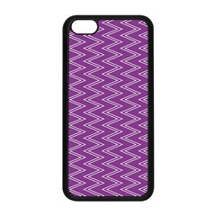 Purple Zig Zag Pattern Background Wallpaper Apple iPhone 5C Seamless Case (Black)