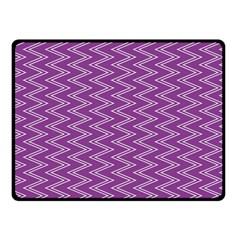 Purple Zig Zag Pattern Background Wallpaper Double Sided Fleece Blanket (small)