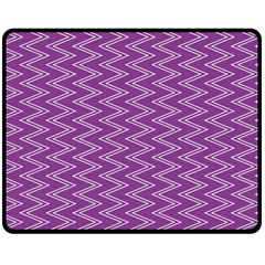 Purple Zig Zag Pattern Background Wallpaper Double Sided Fleece Blanket (medium)