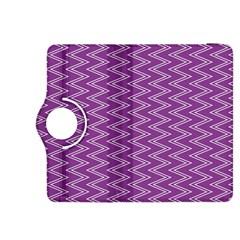 Purple Zig Zag Pattern Background Wallpaper Kindle Fire HDX 8.9  Flip 360 Case