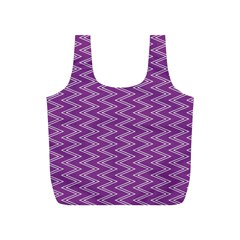 Purple Zig Zag Pattern Background Wallpaper Full Print Recycle Bags (s)