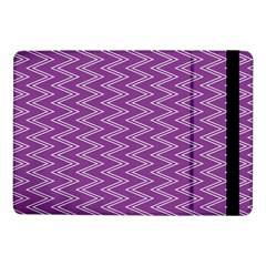 Purple Zig Zag Pattern Background Wallpaper Samsung Galaxy Tab Pro 10 1  Flip Case