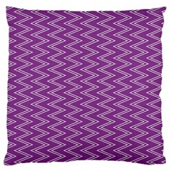 Purple Zig Zag Pattern Background Wallpaper Large Flano Cushion Case (One Side)