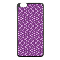 Purple Zig Zag Pattern Background Wallpaper Apple iPhone 6 Plus/6S Plus Black Enamel Case