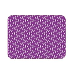 Purple Zig Zag Pattern Background Wallpaper Double Sided Flano Blanket (mini)