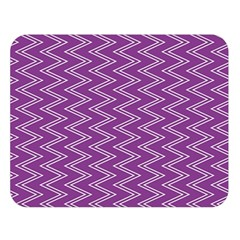 Purple Zig Zag Pattern Background Wallpaper Double Sided Flano Blanket (large)