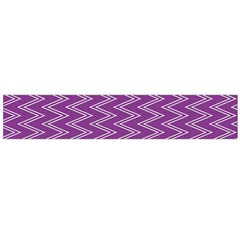 Purple Zig Zag Pattern Background Wallpaper Flano Scarf (Large)