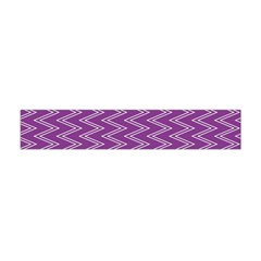 Purple Zig Zag Pattern Background Wallpaper Flano Scarf (mini)