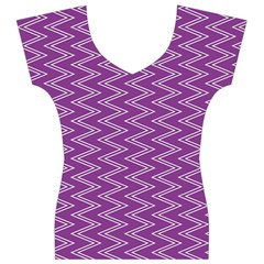 Purple Zig Zag Pattern Background Wallpaper Women s V-Neck Cap Sleeve Top