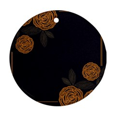 Floral Roses Seamless Pattern Vector Background Ornament (Round)