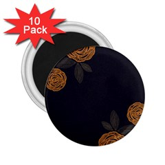 Floral Roses Seamless Pattern Vector Background 2.25  Magnets (10 pack)