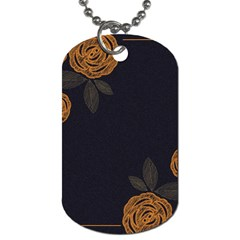 Floral Roses Seamless Pattern Vector Background Dog Tag (Two Sides)