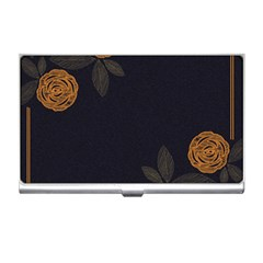 Floral Roses Seamless Pattern Vector Background Business Card Holders