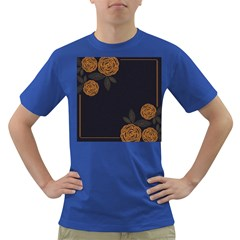 Floral Roses Seamless Pattern Vector Background Dark T Shirt