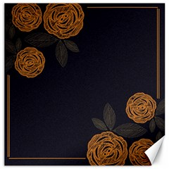 Floral Roses Seamless Pattern Vector Background Canvas 12  x 12