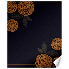 Floral Roses Seamless Pattern Vector Background Canvas 16  x 20