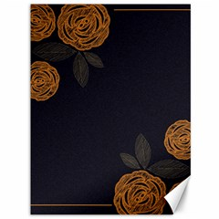 Floral Roses Seamless Pattern Vector Background Canvas 36  X 48