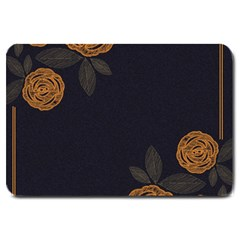 Floral Roses Seamless Pattern Vector Background Large Doormat