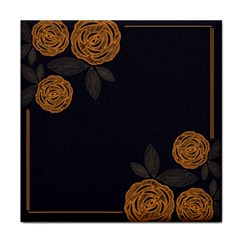 Floral Roses Seamless Pattern Vector Background Face Towel