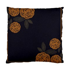 Floral Roses Seamless Pattern Vector Background Standard Cushion Case (one Side)