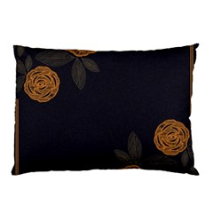 Floral Roses Seamless Pattern Vector Background Pillow Case
