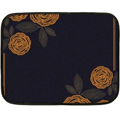Floral Roses Seamless Pattern Vector Background Double Sided Fleece Blanket (Mini)