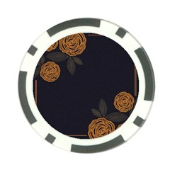 Floral Roses Seamless Pattern Vector Background Poker Chip Card Guard (10 pack)