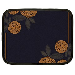 Floral Roses Seamless Pattern Vector Background Netbook Case (XL)