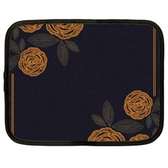 Floral Roses Seamless Pattern Vector Background Netbook Case (XXL)