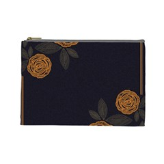 Floral Roses Seamless Pattern Vector Background Cosmetic Bag (Large)