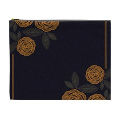 Floral Roses Seamless Pattern Vector Background Cosmetic Bag (xl)