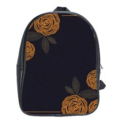 Floral Roses Seamless Pattern Vector Background School Bags(Large)