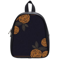 Floral Roses Seamless Pattern Vector Background School Bags (Small)