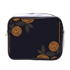 Floral Roses Seamless Pattern Vector Background Mini Toiletries Bags