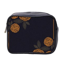 Floral Roses Seamless Pattern Vector Background Mini Toiletries Bag 2-Side