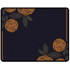 Floral Roses Seamless Pattern Vector Background Fleece Blanket (medium)
