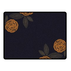 Floral Roses Seamless Pattern Vector Background Fleece Blanket (small)