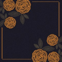 Floral Roses Seamless Pattern Vector Background Magic Photo Cubes