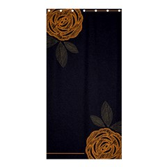 Floral Roses Seamless Pattern Vector Background Shower Curtain 36  x 72  (Stall)