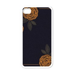 Floral Roses Seamless Pattern Vector Background Apple iPhone 4 Case (White)