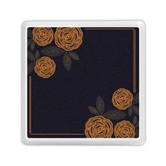 Floral Roses Seamless Pattern Vector Background Memory Card Reader (Square)