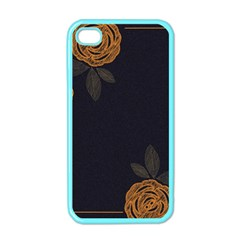 Floral Roses Seamless Pattern Vector Background Apple Iphone 4 Case (color)